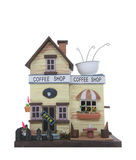 Coffee Shop. An isolated model coffee shop isolated over white royalty free stock photography