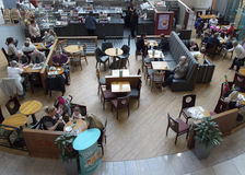 Coffee shop from above, Preston Royalty Free Stock Images