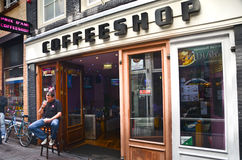 Coffee shop in Amsterdam Royalty Free Stock Photography