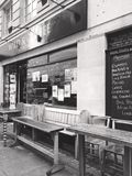 Coffee Shop. Black and white coffee shop in London Royalty Free Stock Photography
