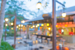 Coffee shop blur background with bokeh Royalty Free Stock Images