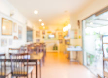 Coffee shop blur background with bokeh Stock Images