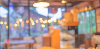 Coffee shop blur background with bokeh. Image Royalty Free Stock Photography