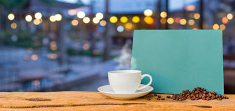 Coffee shop blur background with bokeh Stock Image