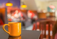 Coffee shop blur background with bokeh image Royalty Free Stock Photos