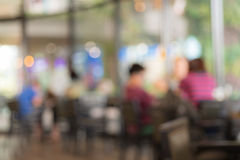 Coffee shop blur background with bokeh image Stock Image