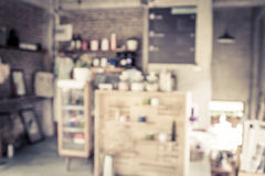 Coffee shop blur background with bokeh Stock Photos