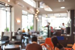 Coffee shop blur background Stock Image