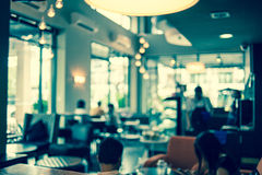 Coffee shop blur background. Vintage instagram effect style pictures Stock Photos