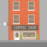 Coffee shop building Stock Image
