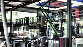 Coffee Shop. Building design indoor Royalty Free Stock Photos