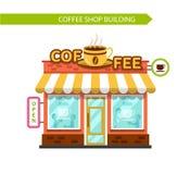 Coffee shop building facade Royalty Free Stock Image