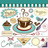 Coffee Shop Cafe Collection of Graphics Royalty Free Stock Images
