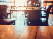 Coffee shop cafe restaurant blur background. Vintage effect style. For create montage product display Stock Photo