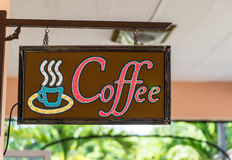 Coffee Shop Cafe signage Stock Photography