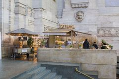 Coffee shop. In Milan train station, Italy Royalty Free Stock Images