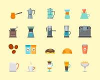 Coffee Shop Color Icon Set. Vector Stock Photo