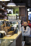 Coffee shop counter Stock Photo
