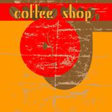 Coffee shop design template Royalty Free Stock Image