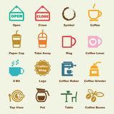 Coffee shop elements Stock Photography