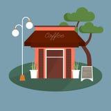 Coffee shop facade Stock Photography