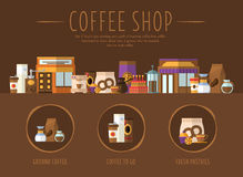 Coffee Shop. Flat Vector Illustration Stock Photography