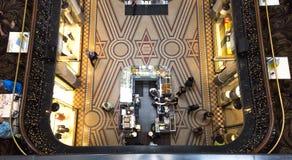Coffee shop från över Royaltyfri Foto
