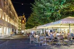 Coffee-shop in Geneva, Switzerland Stock Image