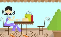 Coffee shop girl Stock Photos