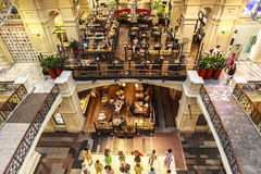 Coffee shop in GUM department store in Moscow, Russia Royalty Free Stock Photography