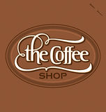 'The Coffee Shop' hand lettering (vector) Stock Images