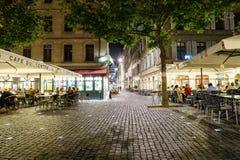 Coffee shop i Genève, Schweiz Royaltyfri Foto