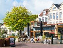 Coffee shop i Leiden, Nederländerna Royaltyfria Foton
