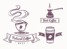 Coffee shop illustration and design elements Stock Photos