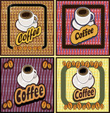Coffee shop illustration design elements vintage  Stock Images