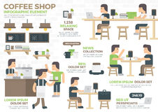 Coffee Shop Infographic Element Royalty Free Stock Images