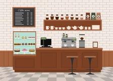 Coffee shop interior . Royalty Free Stock Photos