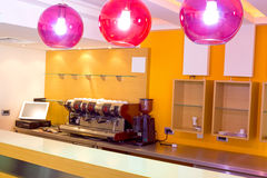 Coffee shop. The interior of the new cafe bar ready to open,photography Royalty Free Stock Image