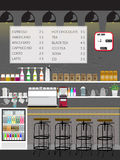 Coffee shop Interior vertical Vector Style Stock Images
