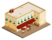 Coffee Shop Isometric Royalty Free Stock Photography