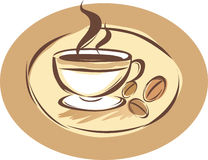 Coffee shop label. Vector illustration Stock Photography
