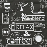 Coffee shop logo banner Stock Photography
