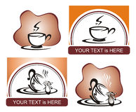 Coffee shop logo stock illustration