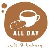 Coffee shop logo Royalty Free Stock Image