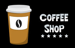 Coffee shop. Logo coffee that can be used as advertising Stock Photo
