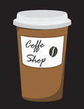 Coffee shop. Logo coffee that can be used as advertising Stock Image