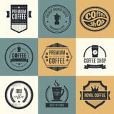 Coffee Shop Logo Collection Royalty Free Stock Photography