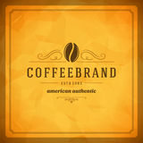 Coffee Shop Logo Design Element Royalty Free Stock Image