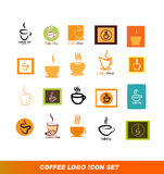 Coffee shop logo icon set Stock Image
