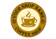 Coffee Shop Logo Sign Stock Photos